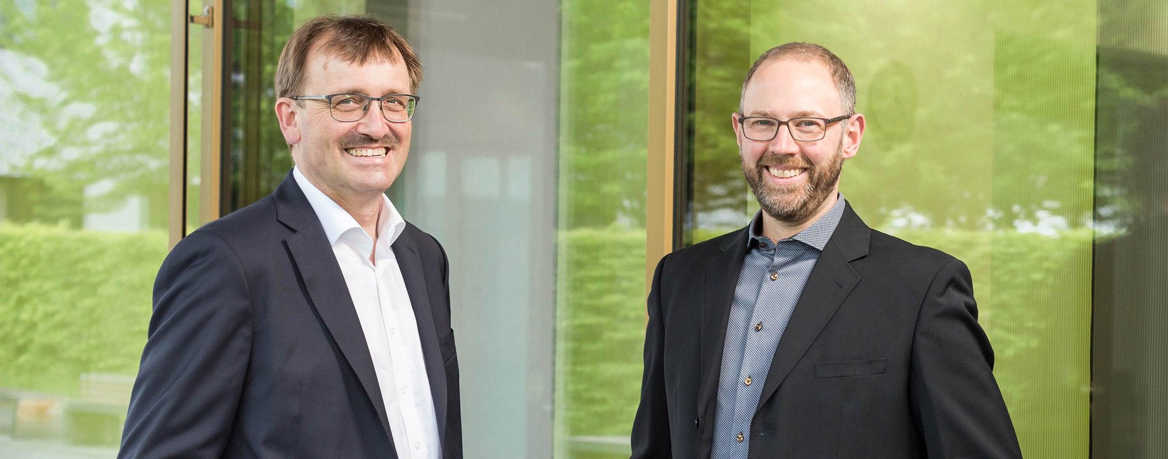 BBS Geschäftsführer Karl-Heinz Frings und Peter Doberass